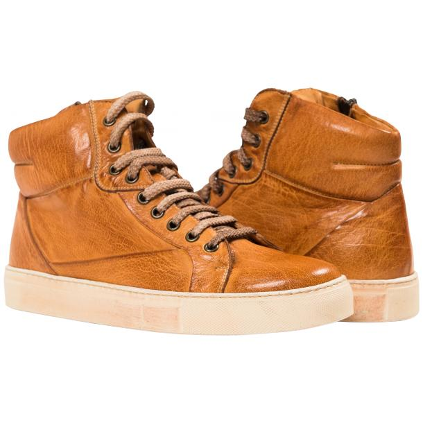 Kim Dip Dyed Brick Nappa Leather High Top Sneaker full-size #1