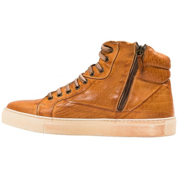 Kim Dip Dyed Brick Nappa Leather High Top Sneaker full-size #6