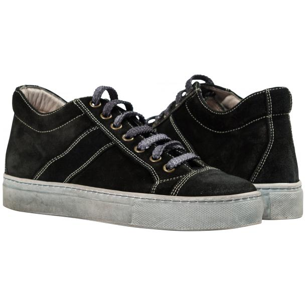 Hannah Black Dip Dyed Suede Low Top Sneakers thumb #1