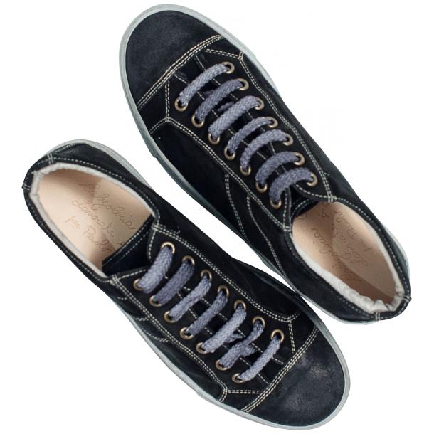 Hannah Black Dip Dyed Suede Low Top Sneakers thumb #2