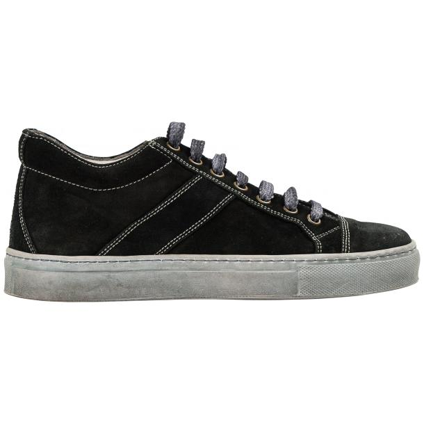 Hannah Black Dip Dyed Suede Low Top Sneakers thumb #4