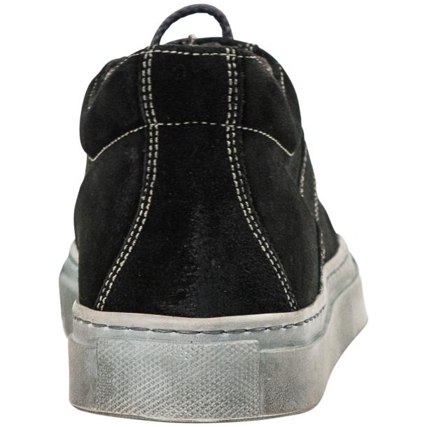 Hannah Black Dip Dyed Suede Low Top Sneakers thumb #5