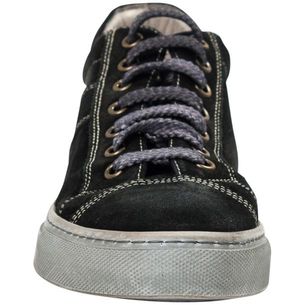 Hannah Black Dip Dyed Suede Low Top Sneakers thumb #3