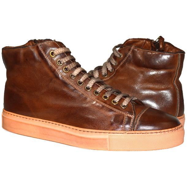 Samantha Dip Dyed Brown High Top Sneaker  full-size #1