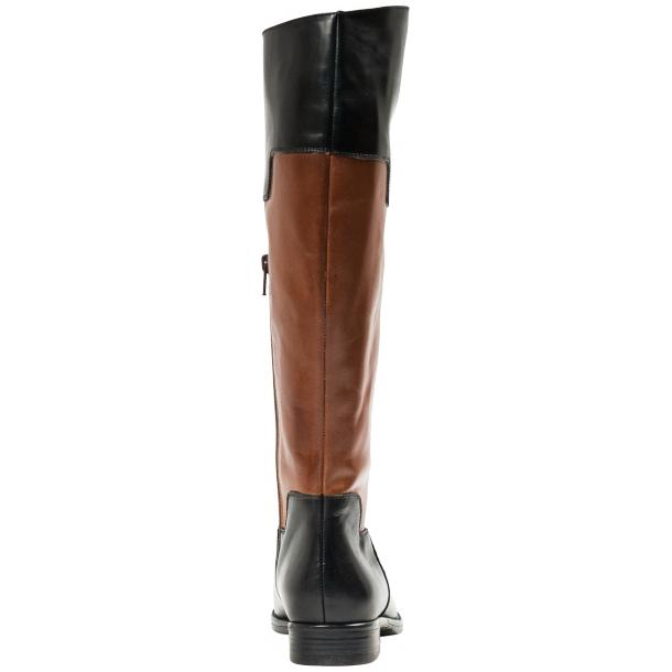Lori Black and Brown Nappa Leather Tall Riding Boots thumb #2