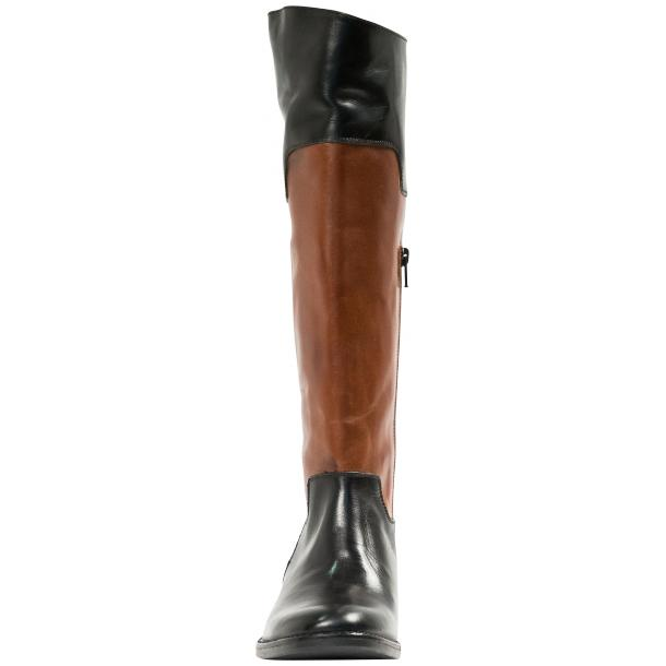 Lori Black and Brown Nappa Leather Tall Riding Boots thumb #5