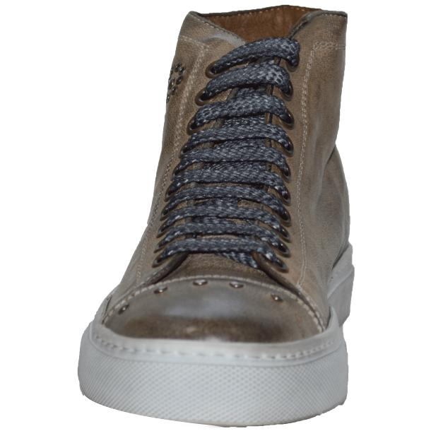 Misty Dip Dyed Grey High Top Embroidered Sneaker full-size #2