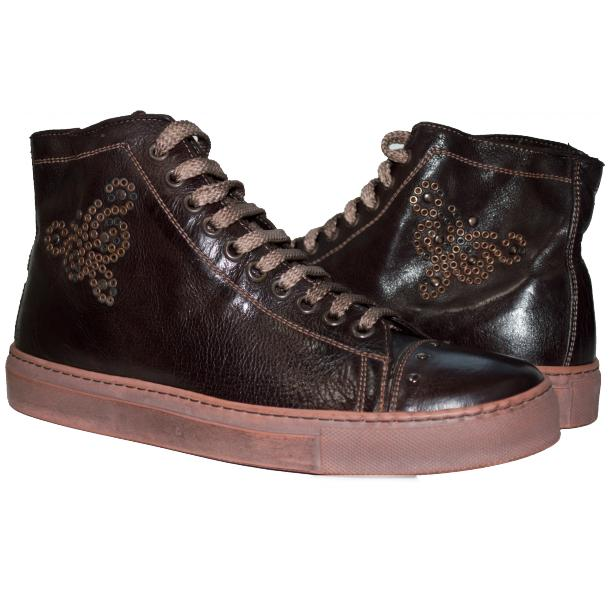 Misty Dip Dyed Brown High Top Sneaker full-size #1