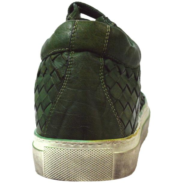Veronica Dip Dyed Meadow Green Hand Woven Low Top Sneaker  thumb #4