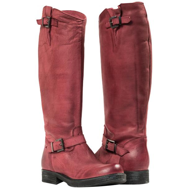 Taylor Bordeaux Nappa Leather Motorcycle Tall Boots full-size #1