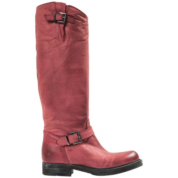 Taylor Bordeaux Nappa Leather Motorcycle Tall Boots full-size #4
