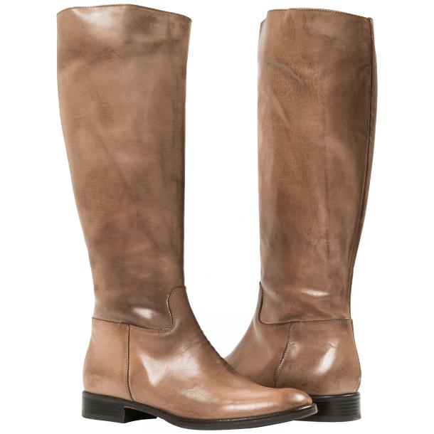 Rita Taupe Nappa Leather Classic Tall Riding Boots full-size #1