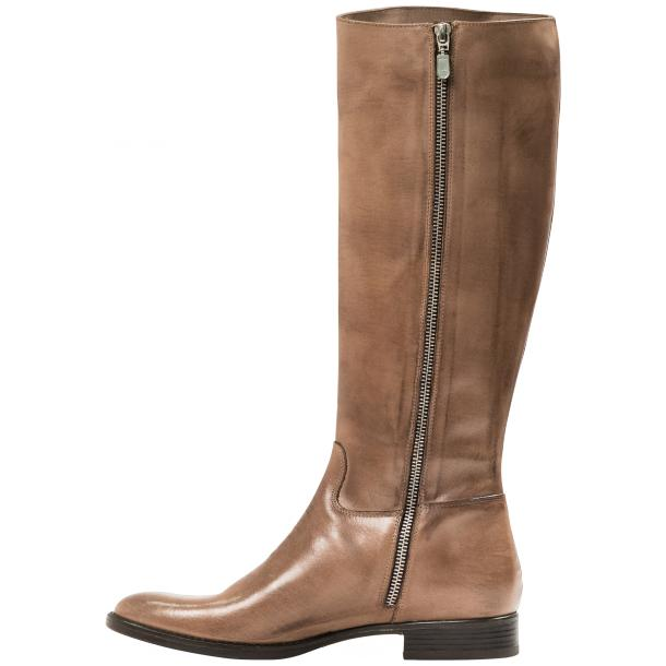Rita Taupe Nappa Leather Classic Tall Riding Boots thumb #3