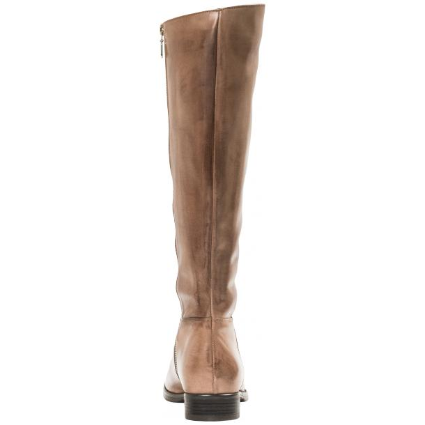 Rita Taupe Nappa Leather Classic Tall Riding Boots thumb #2