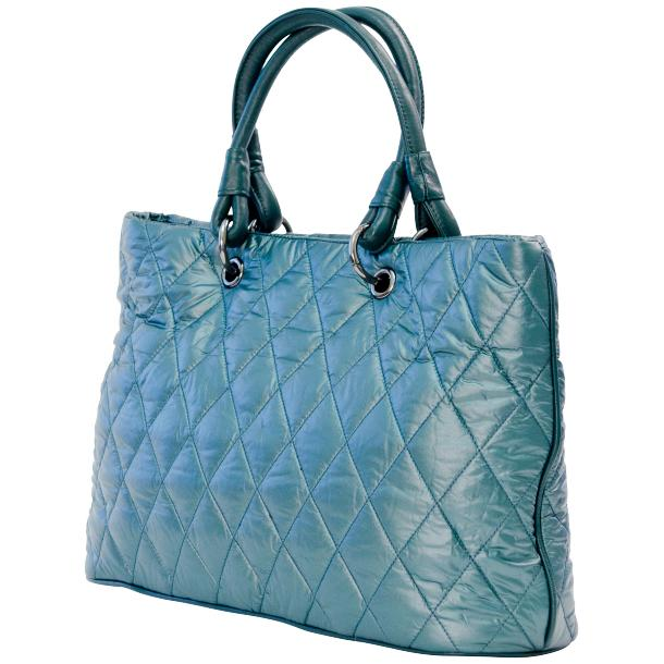 Lily Sky Blue Quilted Totebag full-size #1