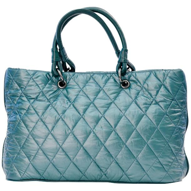 Lily Sky Blue Quilted Totebag full-size #4