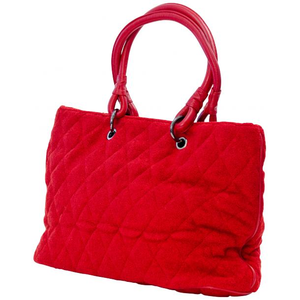 Lily Red Quilted Totebag full-size #1