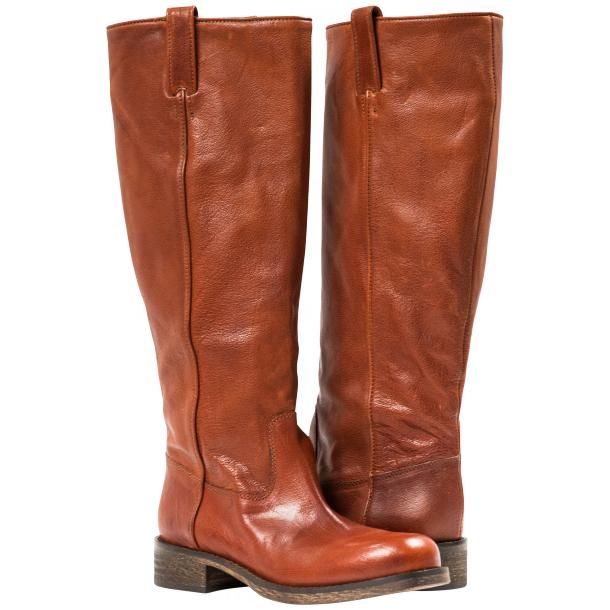 "Arya Light Brown ""Cuoio"" Nappa Leather Tall Boots full-size #1"