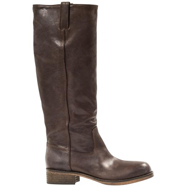 "Arya Dark Brown ""Moro"" Nappa Leather Tall Boots thumb #4"