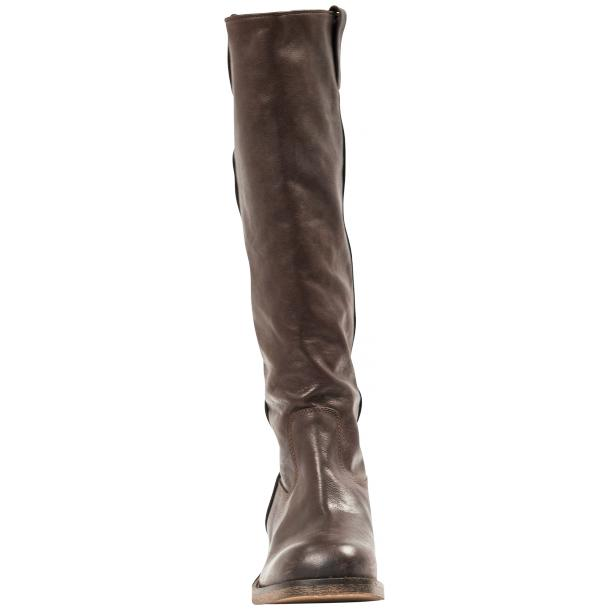 "Arya Dark Brown ""Moro"" Nappa Leather Tall Boots thumb #2"