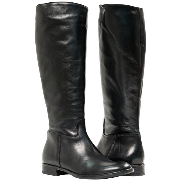 "Rita Black ""Nero"" Nappa Leather Classic Tall Riding Boots thumb #1"
