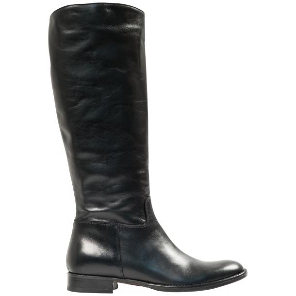 "Rita Black ""Nero"" Nappa Leather Classic Tall Riding Boots thumb #4"
