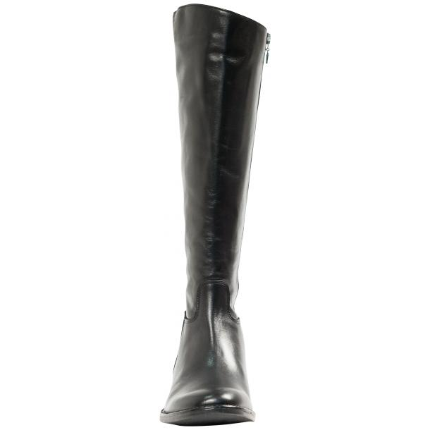 "Rita Black ""Nero"" Nappa Leather Classic Tall Riding Boots thumb #2"