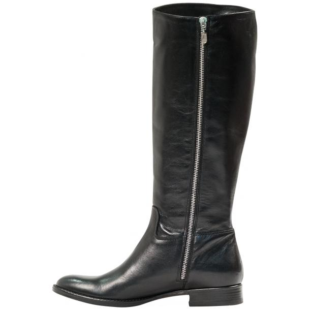 "Rita Black ""Nero"" Nappa Leather Classic Tall Riding Boots thumb #3"