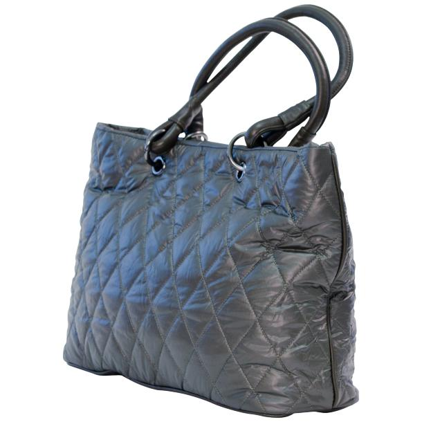 Lily Silver Quilted Totebag full-size #1
