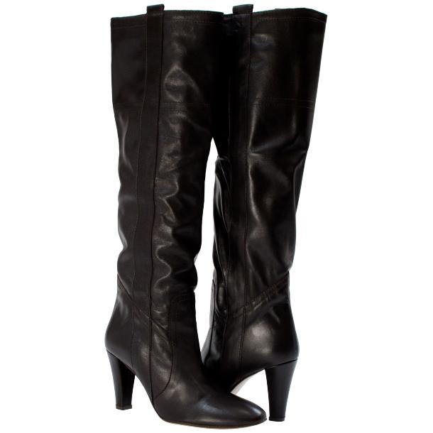 Zena Above the Knee Slip-On Boots Black thumb #1
