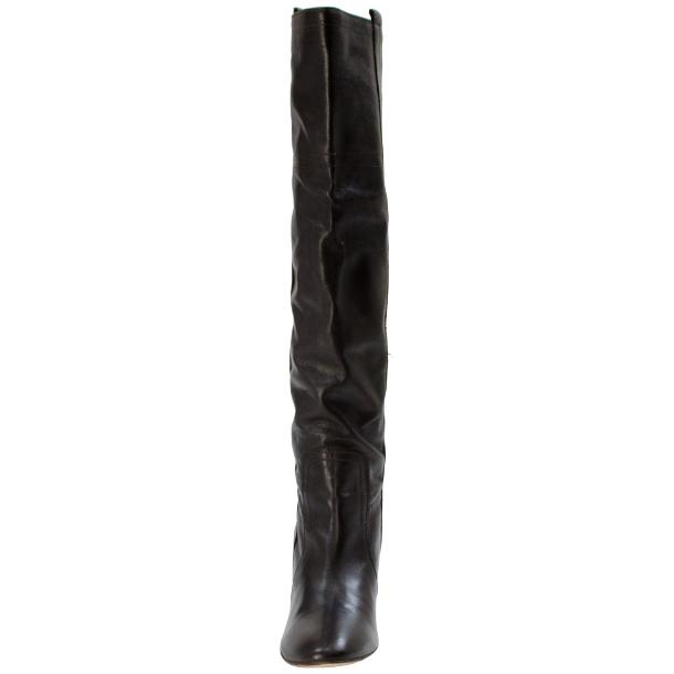 Zena Above the Knee Slip-On Boots Black thumb #4