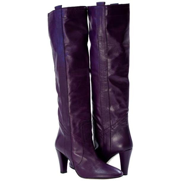 Zena Above the Knee Slip-On Boots Purple full-size #1