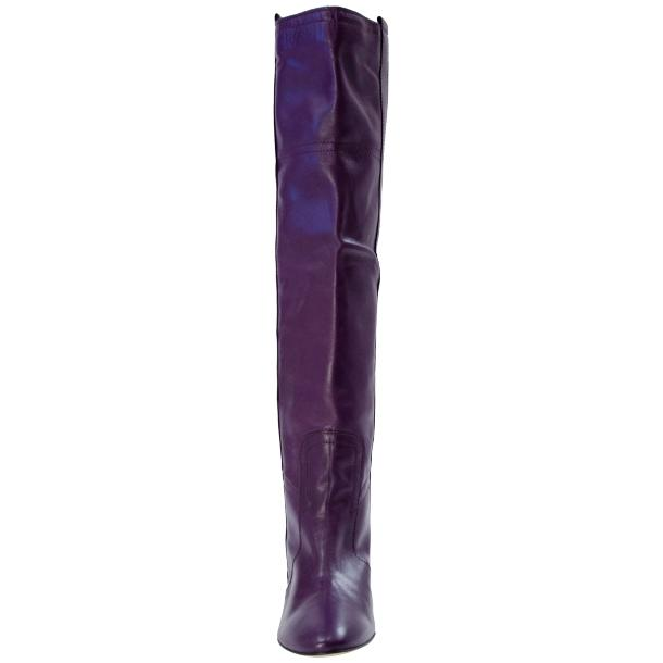 Zena Above the Knee Slip-On Boots Purple thumb #3