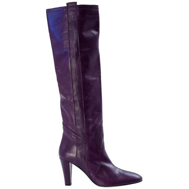 Zena Above the Knee Slip-On Boots Purple thumb #2