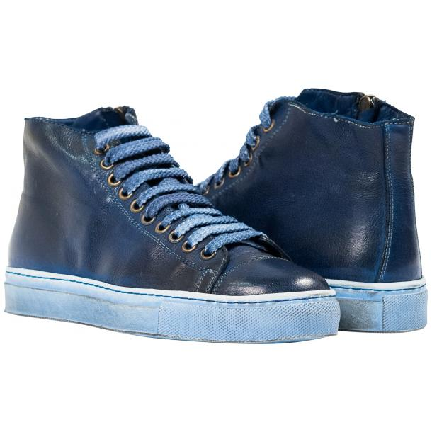 Penny Dip Dyed Indigo Blue High Top Sneaker  full-size #1