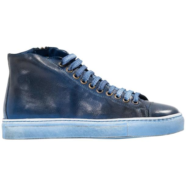 Penny Dip Dyed Indigo Blue High Top Sneaker  thumb #4