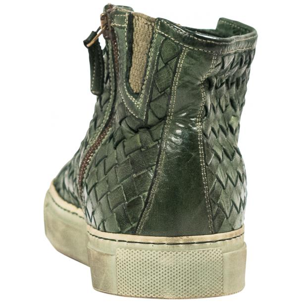 Melinda Dip Dyed Green Hand Woven High Top Sneaker  full-size #6