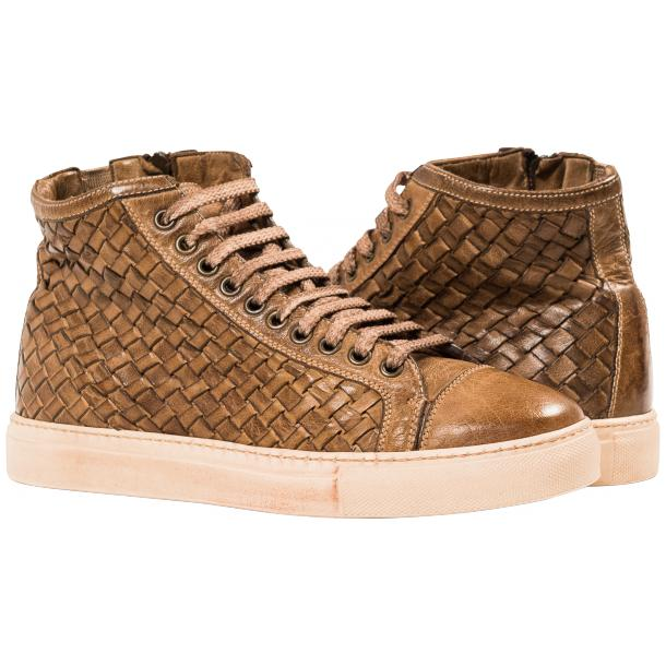 Cole Dip Dyed Moor Hand Woven High Top Sneakers full-size #1