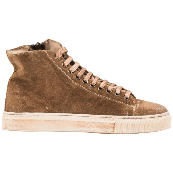 Ava Beige Dip Dyed Suede High Top Sneakers full-size #4