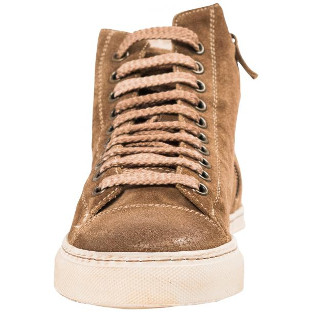 Ava Beige Dip Dyed Suede High Top Sneakers full-size #3