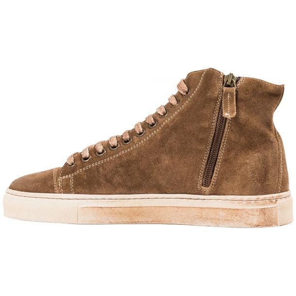 Ava Beige Dip Dyed Suede High Top Sneakers full-size #5