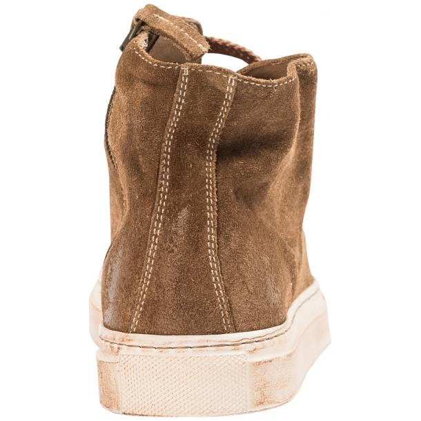 Ava Beige Dip Dyed Suede High Top Sneakers full-size #6
