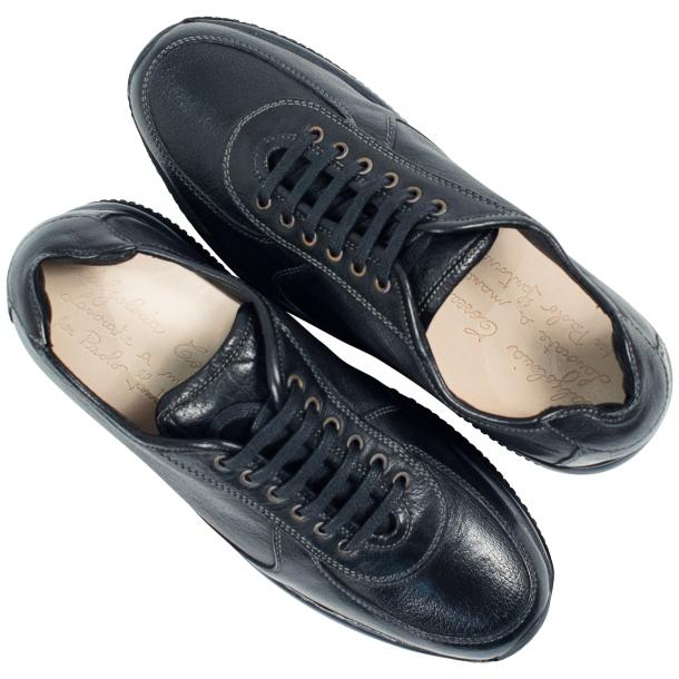 Misha Black Nappa Leather Rubber Sole Sneaker Shoes thumb #2