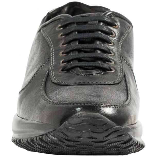 Misha Black Nappa Leather Rubber Sole Sneaker Shoes thumb #3