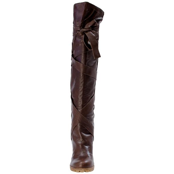Regina Over the Knee Wedge Boots Brown thumb #3