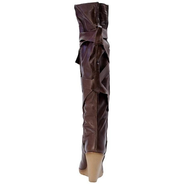 Regina Over the Knee Wedge Boots Brown thumb #4