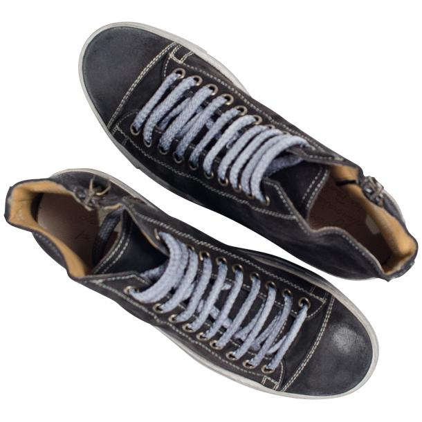 Ava Dark Grey Dip Dyed Suede High Top Sneakers thumb #2