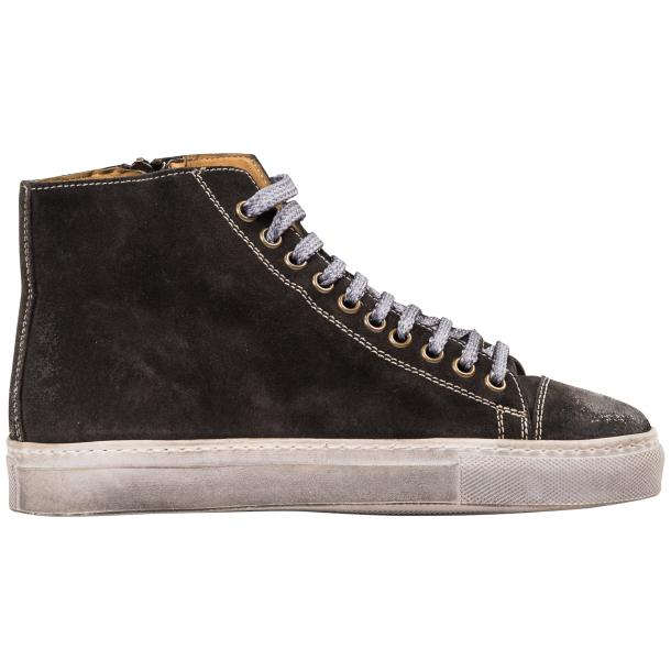 Ava Dark Grey Dip Dyed Suede High Top Sneakers thumb #4
