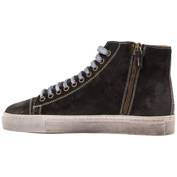 Ava Dark Grey Dip Dyed Suede High Top Sneakers thumb #5