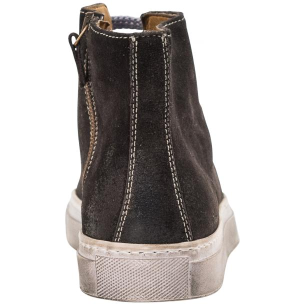 Ava Dark Grey Dip Dyed Suede High Top Sneakers thumb #6